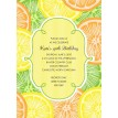 Citrus Lemon, Lime and Orange Printable Invitation